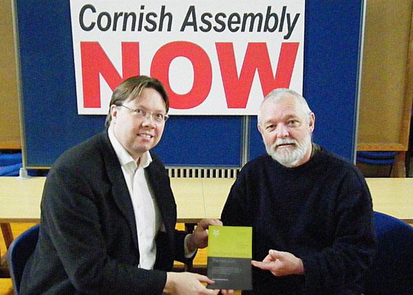 Dan Rogerson MP and Convention Chair Bert Biscoe with latrest Convention publication ' The Next Push'